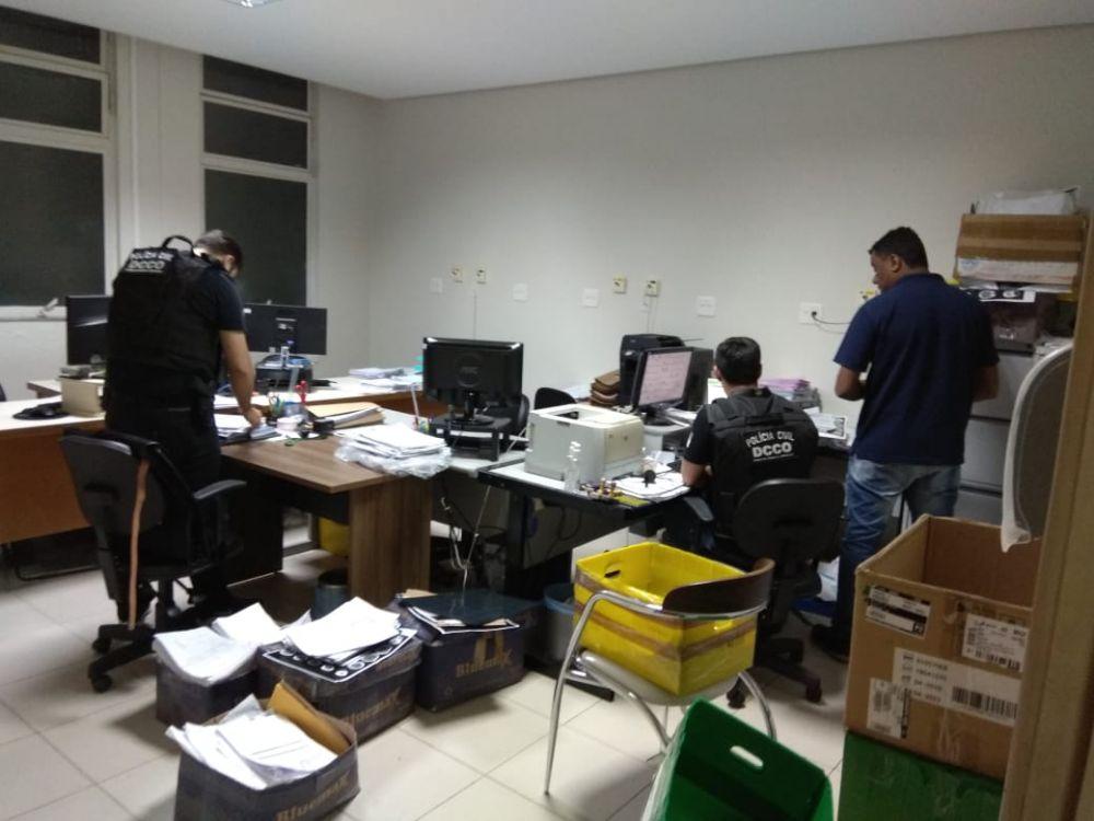Foram cumpridos 21 mandados, sendo 12 de busca e apreensão e 9 de prisões (foto divulgação Polícia Civil)