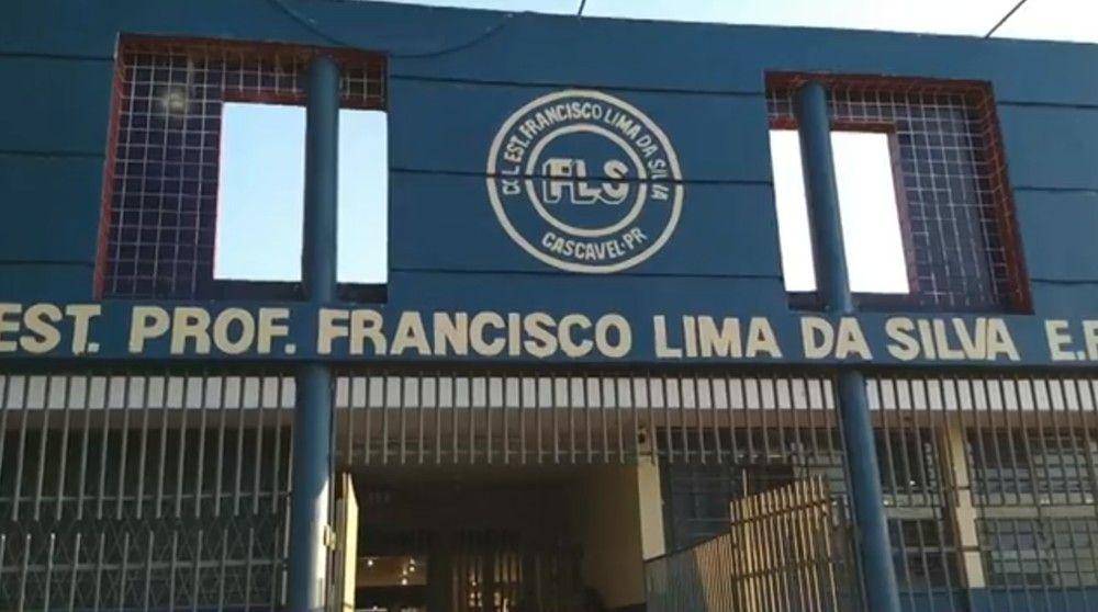 Caso aconteceu no Colégio Estadual Professor Francisco Lima da Silva, no bairro Floresta, em Cascavel — Foto: Reprodução/RPC