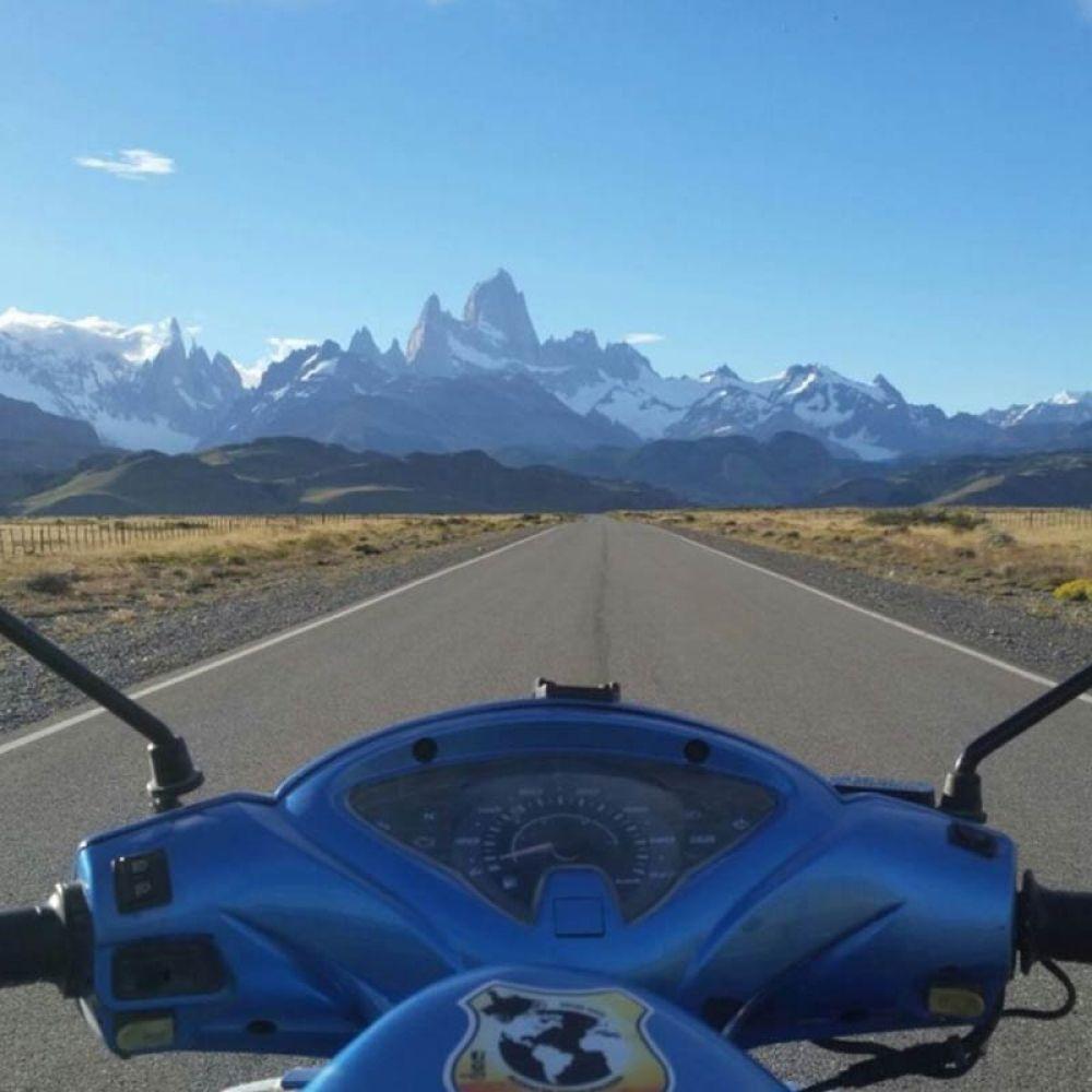 Com a Honda Biz a caminho da Patagônia