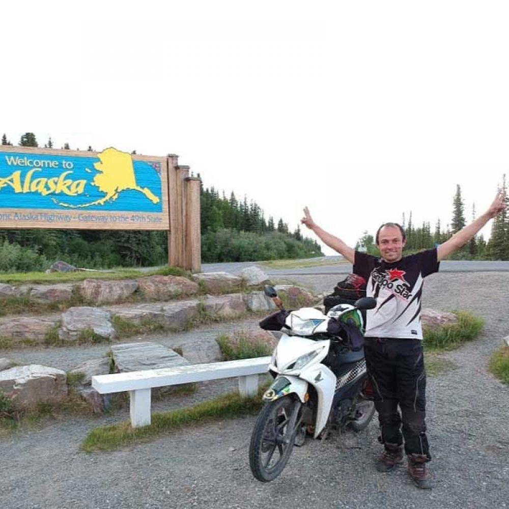 Chegando ao Alasca depois de um ano de viagem desde a saída de Guaramirim