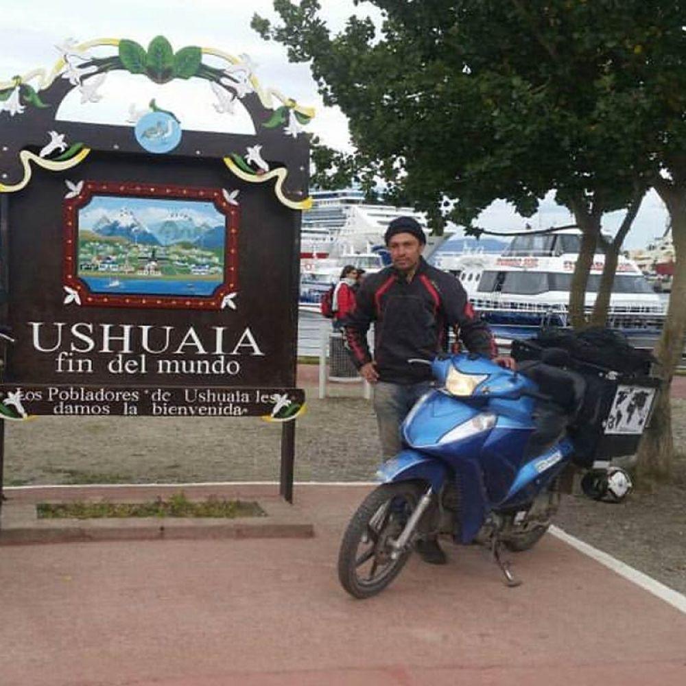 Alfredo alcançou primeiro o Ushuaia, ponto mais ao Sul das Américas