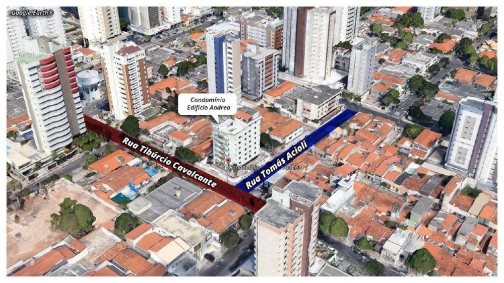 Localização do edifício que desabou em Fortaleza - Google Earth®