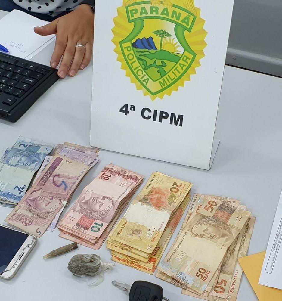R$ 14 mil foram apreendidos durante operação da Polícia Militar — Foto: PM/Divulgação
