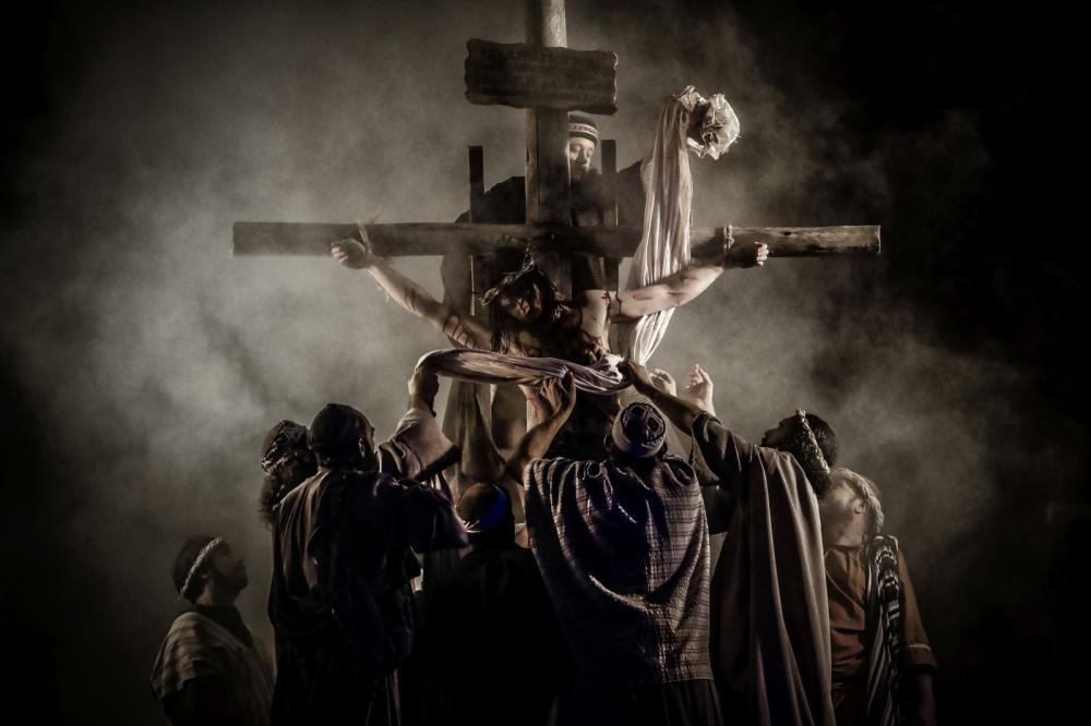 'Paixão de Cristo' será encenada no Parque Cachoeira, em Araucária — Foto: Carlos Poly/Divulgação