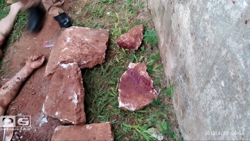 Homem é ferido na cabeça por pedradas em Guaíra