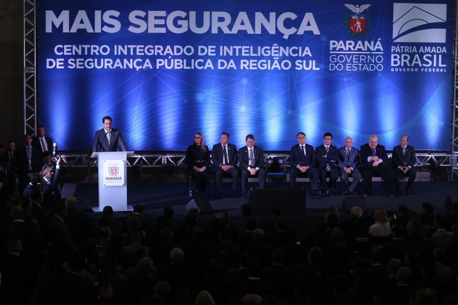 Governador Carlos Massa Ratinho Junior, recebe Presidente Jair Bolsonaro. Foto Gilson Abreu/ANPr