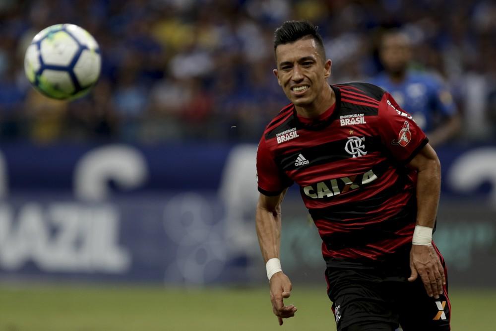 Uribe, do Flamengo, está na mira do Santos — Foto: Staff Images/Flamengo