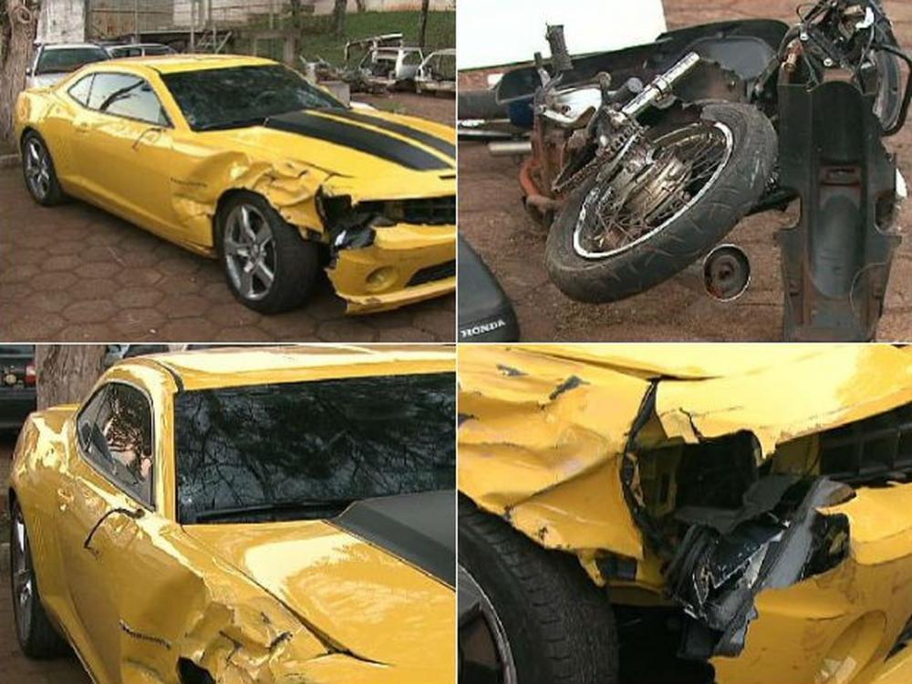 Segundo as investigações, Pilatti dirigia um Camaro pela BR-369 no dia 14 de julho de 2011 quando atropelou um casal que estava em uma moto — Foto: Reprodução/RPC