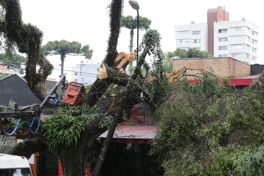 Vendavais e granizo afetam mais de sete mil pessoas no Paraná