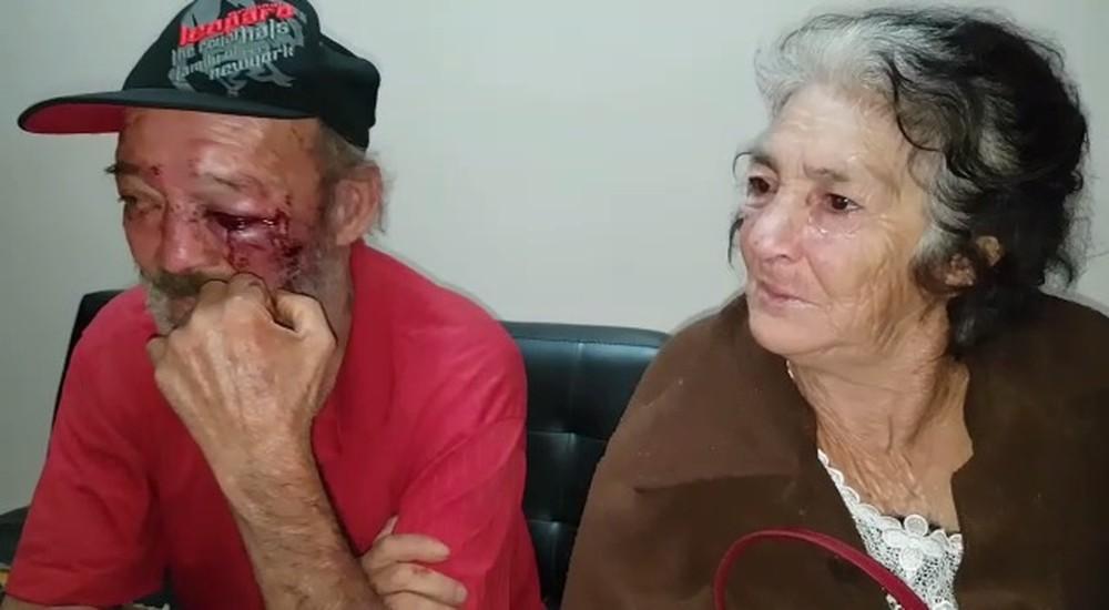 Idosos foram agredidos pelo filho em Peabiru — Foto: Rafael Silvestrin/Site - Tá Sabendo