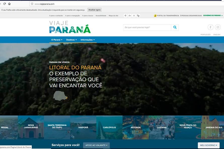 Portal Viaje Paraná já apresenta detalhes de 111 destinos