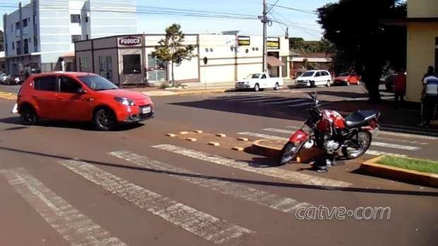 Motociclista fica ferido após batida em toledo