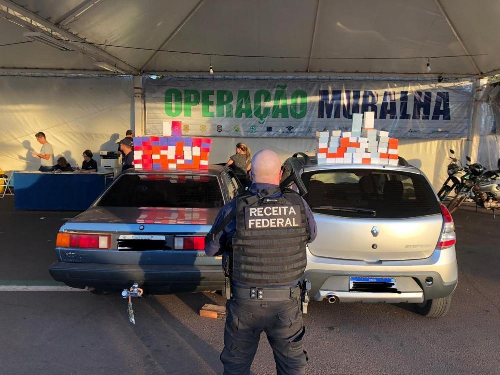 Em quase dois meses de operação, a Receita Federal e forças policiais apreenderam cerca de R$ 45 milhões em produtos trazidos ilegalmente do Paraguai — Foto: Receita Federal/Divulgação