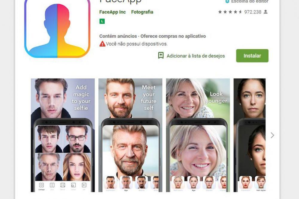 Foto: Reprodução FACE App/Direitos Reservados