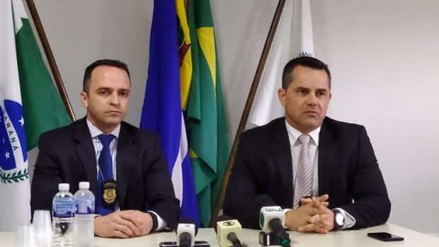 Os delegados Gustavo Mendes Marques de Brito e Alan Henrique Flore, da Polícia Civil do Paraná. Foto: Danilo Martins/OBemdito