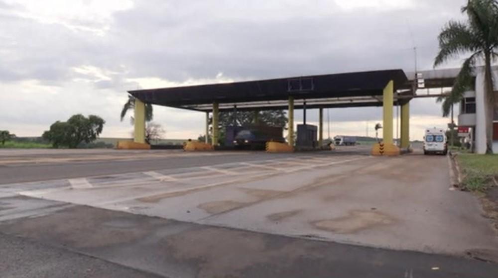 Praça de pedágio da Econorte entre Cambará e Andirá — Foto: Reprodução/RPC