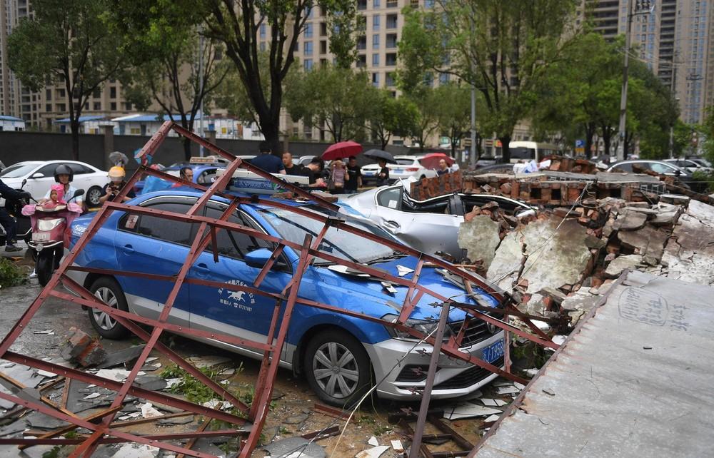 Tufão Lekima deixa mortos e desaparecidos na China — Foto: Wang Gang/CNS via REUTERS