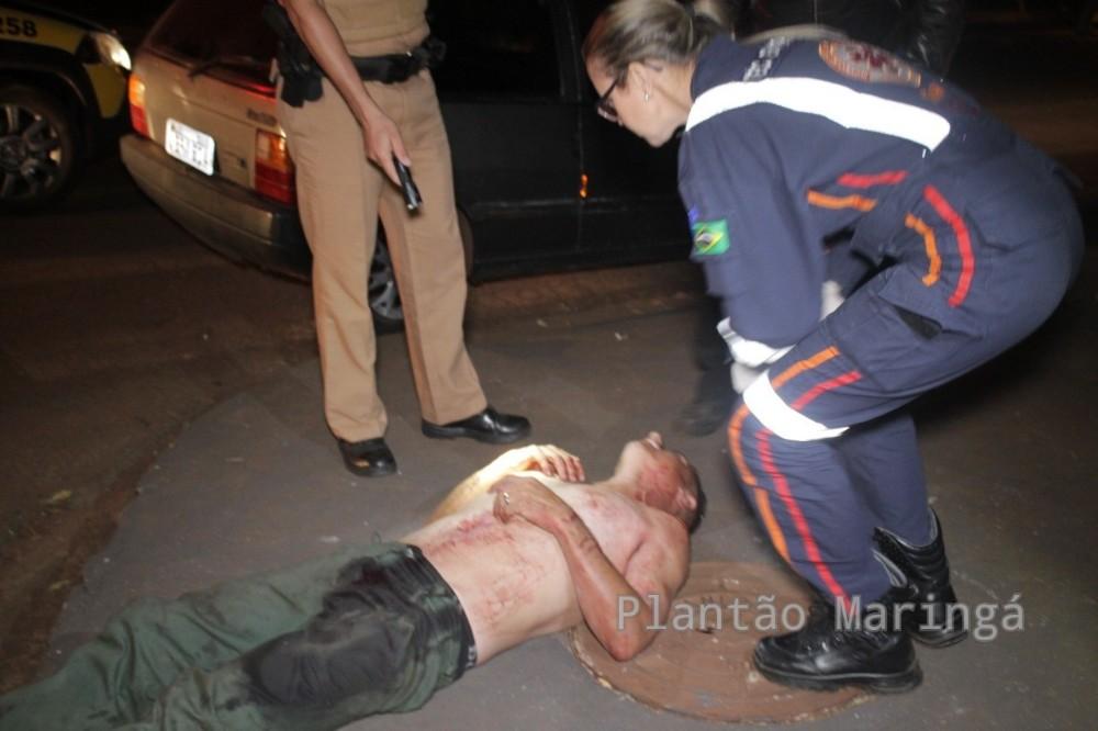 Após desentendimento homem é esfaqueado pela mulher