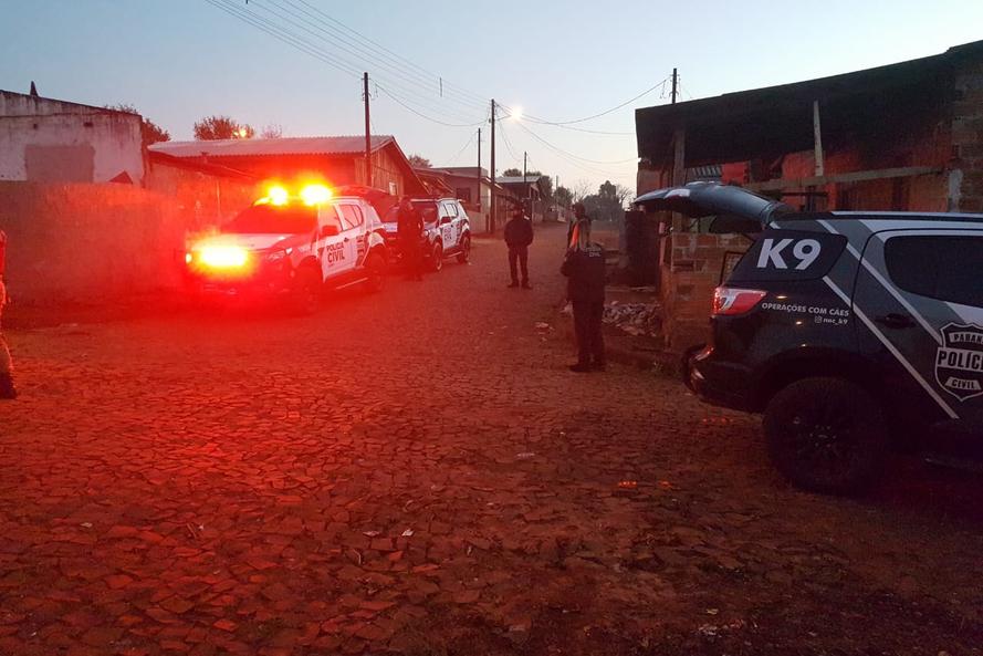 As ações contam com o apoio da Polícia Militar. Foto: Divulgação/PCPR