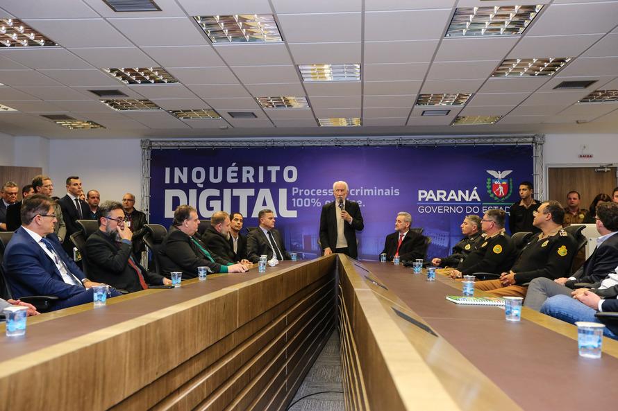 Inquéritos policiais passam a ser 100% digitais no Paraná
