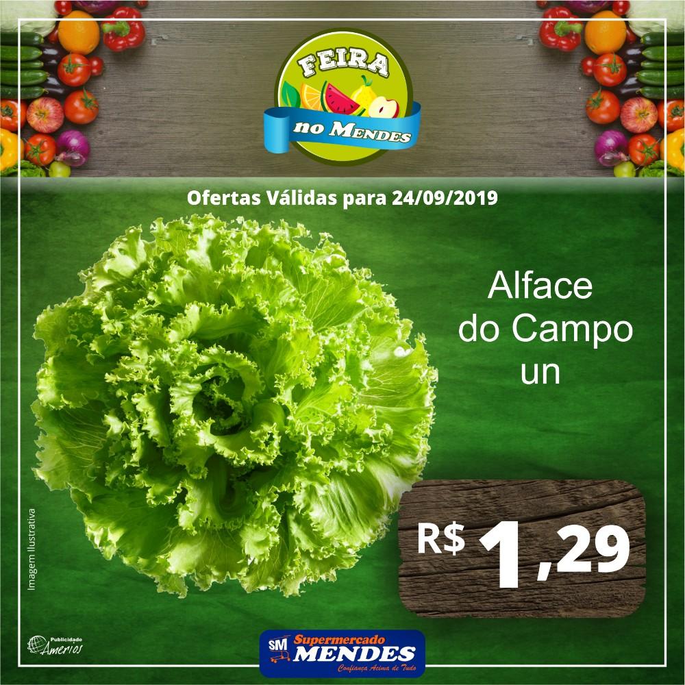 Hoje é dia de ofertas na feira no Supermercado Mendes