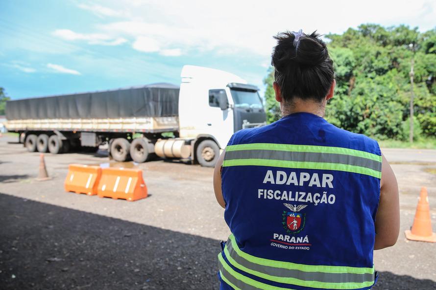 ADAPAR - Posto de Fiscalização de Trânsito Agropecuário. Barracão, 15/01/2020 - Foto: Geraldo Bubniak/AEN