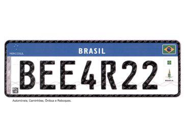 Placa do Mercosul - Divulgação/Ministério das Cidades