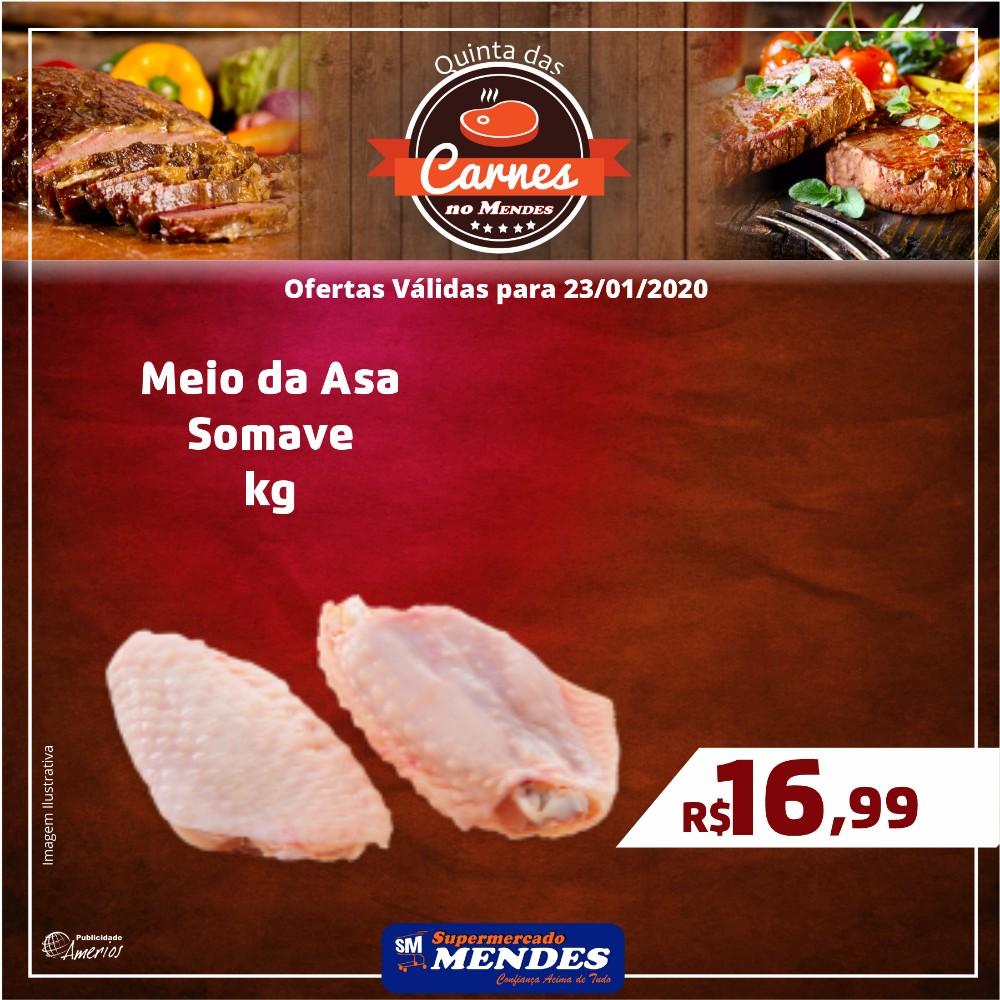 Hoje tem ofertas de carnes no Supermercado Mendes