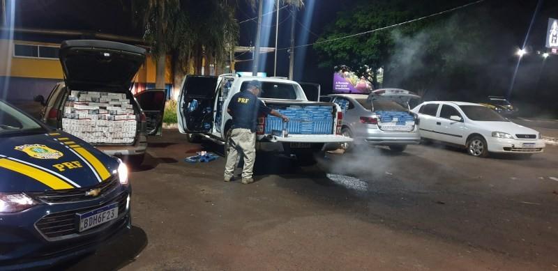PRF intercepta comboio de contrabandistas de cigarro no Paraná