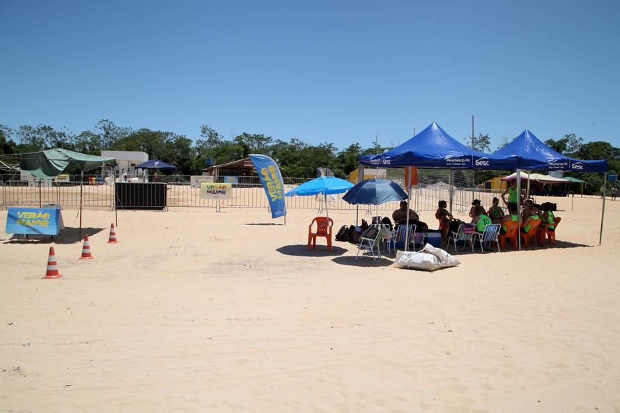 Praias do Rio Paraná têm reforço em segurança, saúde e esportes