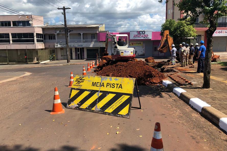 Investimentos são de mais de R$ 9 milhões nas obras, que estão em ritmo acelerado Foto: Sanepar