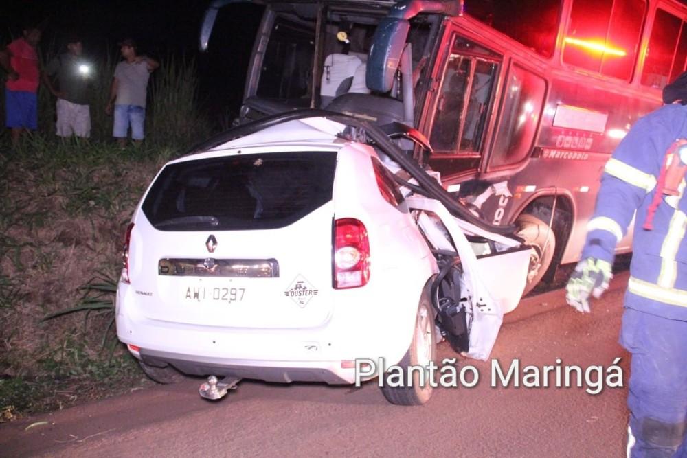 Grave acidente mata quatro pessoas na PR-317 em Maringá