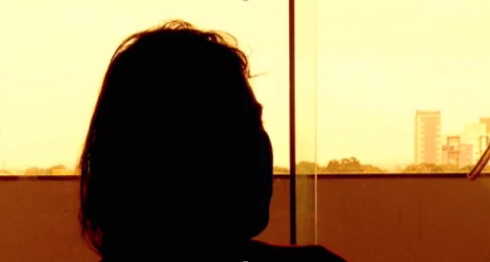 Mulher vítima de violência doméstica — Foto: Reprodução/TV Anhanguera