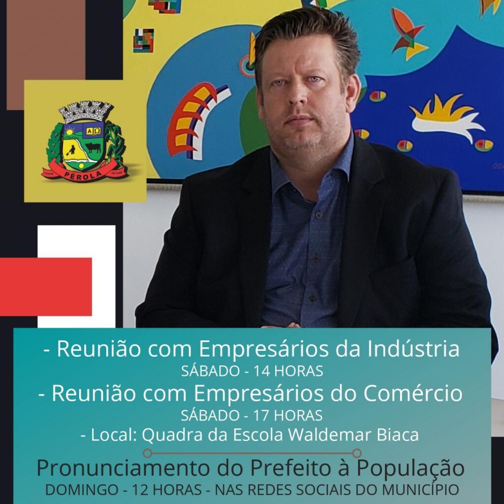 Prefeito Darlan Scalco convida os empresários da indústria e do comércio de Pérola para uma reunião sábado (28)