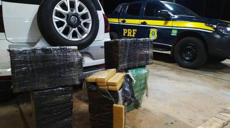 Em 12 horas, PRF apreende mais de 1 tonelada de maconha no Paraná