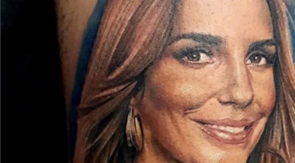 Jovem de SP gasta R$ 2,5 mil para tatuar rosto de Ivete Sangalo