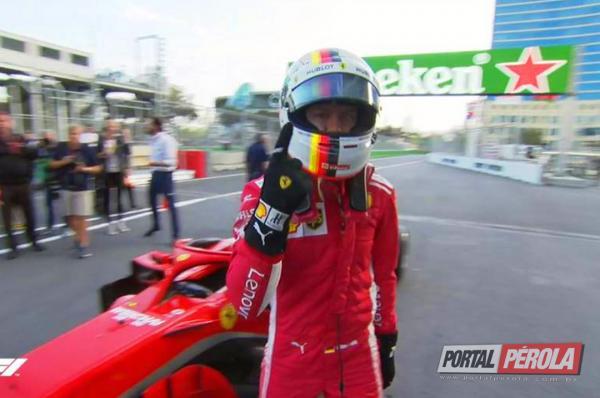 Vettel reage e lidera 3º treino livre do GP do Azerbaijão de F-1