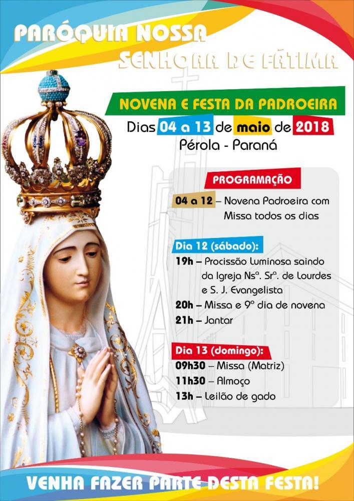 Festa da Padroeira;  Paróquia Nossa Senhora de Fátima