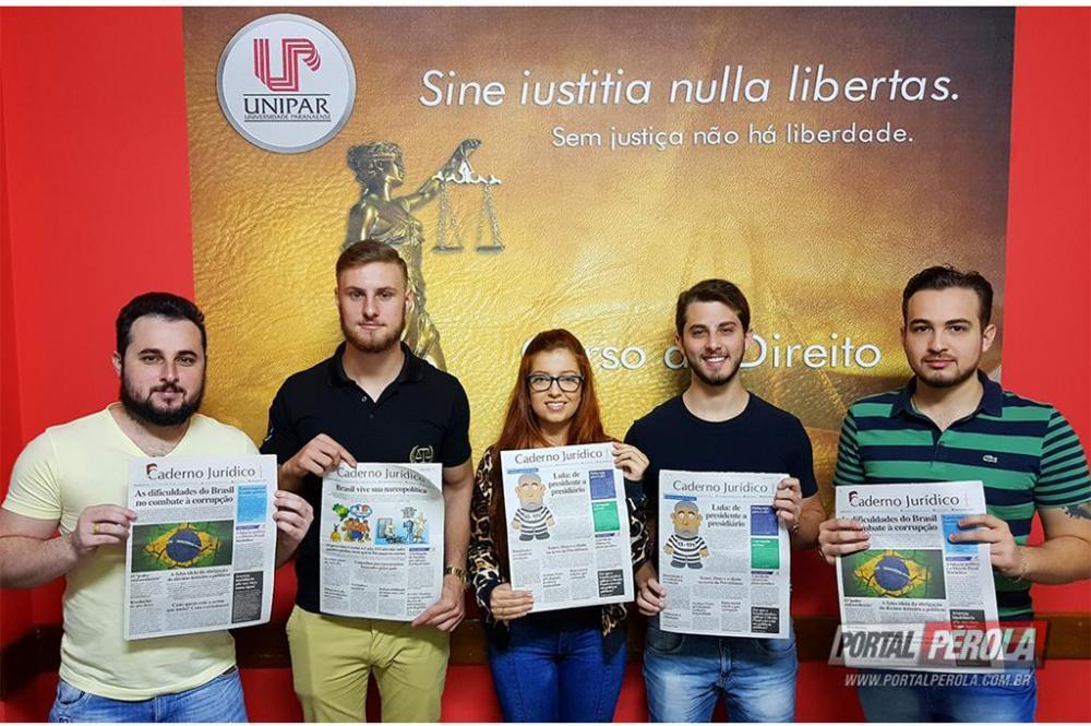 Acadêmicos da Unipar são destaque em jornal jurídico