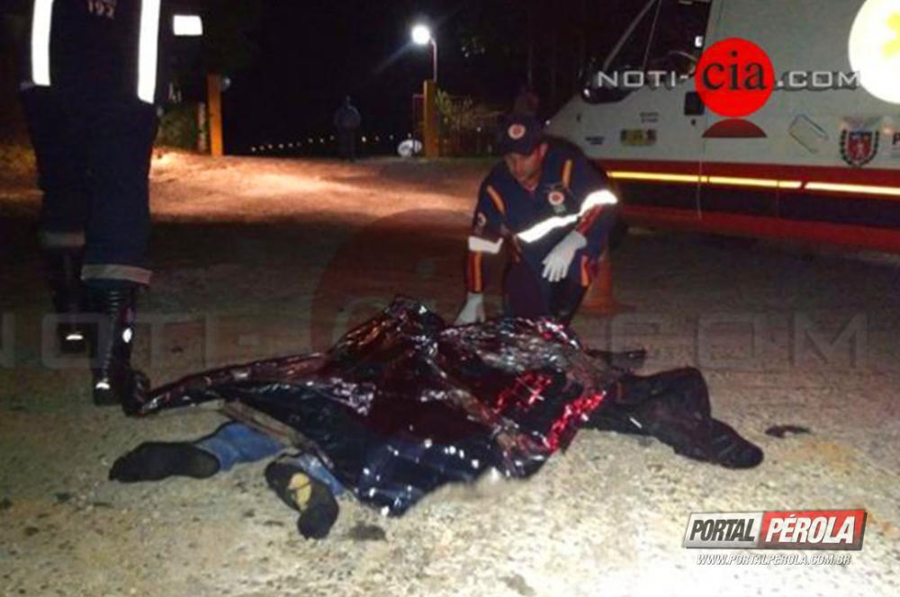 Homem morre atropelado na PR 323 em Cianorte