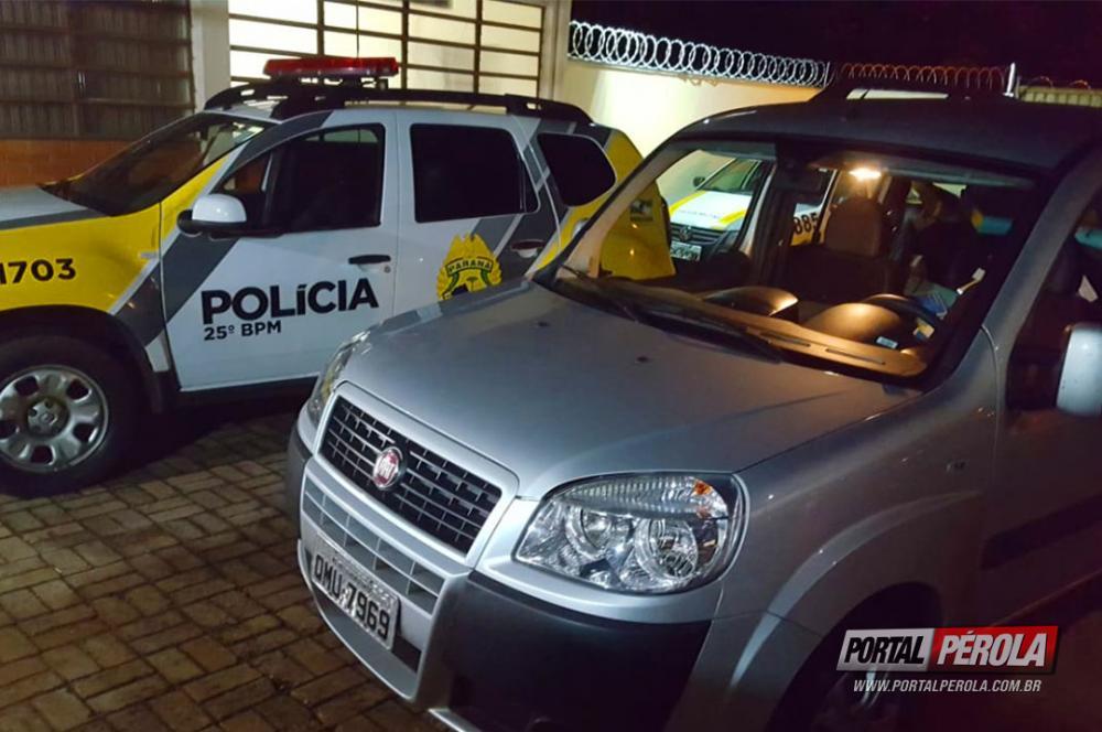 PM de Pérola apreende veículo carregado com Eletrônicos contrabandeados do Paraguai