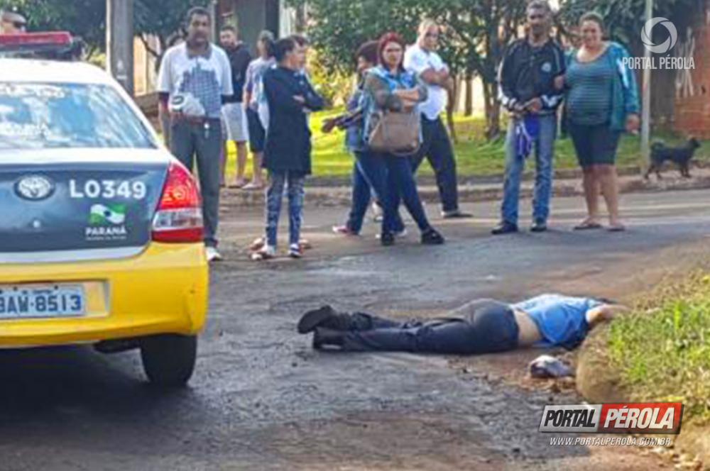 Homem baleado em Cascavel morre a caminho do hospital