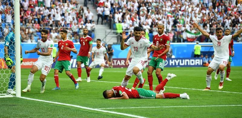 Irã derrota Marrocos com gol contra nos acréscimos do 2º tempo