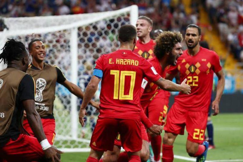 Bélgica consegue virada impressionante contra Japão e enfrentará Brasil