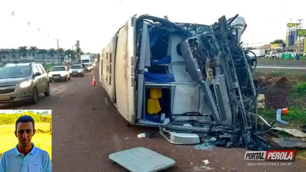 Grave acidente entre ônibus e caminhão deixa 1 morto e feridos na BR-376, em Marialva