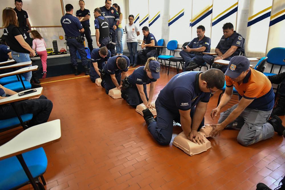 Guarda Municipal recebe treinamento para desastres e primeiros socorros